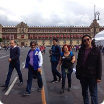 "In the main square of the Mexicocity ""Zocalo"""